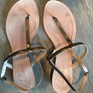 From an scrappy flat sandals